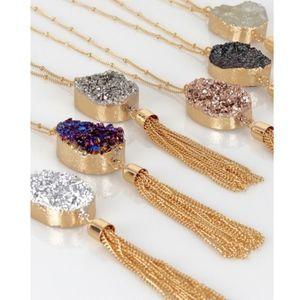 """Druzy """"MUST HAVE"""" Pendant Necklace - 3 colors"""